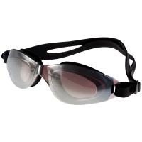 奇海平光大框游泳镜男女通用镀膜眼镜 1106黑色送泳帽