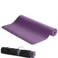IKU 183*80cm加宽环保瑜伽垫 6MM厚纯TPE妈咪专用瑜珈运动垫 紫色