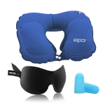 EPC 旅行套装 充气枕头 睡眠眼罩 户外便携 旅游用品 旅行套装送耳塞(耳塞颜色随机)