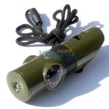 尚龙多功能口哨 休闲户外应急 指南针温度计救生口哨反光镜LED灯 SL-S13