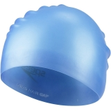 速比涛(Speedo)11400864 加大游泳帽长发防水护耳男士女士成人硅胶泳帽湖水蓝