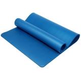 凯速NBR环保 188*100cm加长加宽防滑防潮健身瑜伽垫 15MM 蓝色 EA08