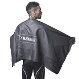 拓胜 toswim 游泳浴巾吸水巾加大保暖速干浴巾泡温泉 黑银系列TS615001 黯黑色
