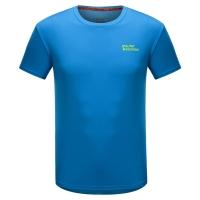 埃尔蒙特ALPINT MOUNTAIN 春夏情侣快干T恤 户外短袖吸湿排汗T恤 630-522 蓝色 XL