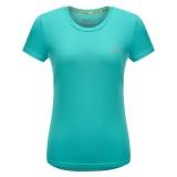 埃尔蒙特ALPINT MOUNTAIN 春夏情侣快干T恤 户外短袖吸湿排汗T恤 630-523 天蓝 XL