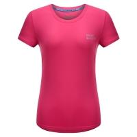 埃尔蒙特ALPINT MOUNTAIN 春夏情侣快干T恤 户外短袖吸湿排汗T恤 630-523 玫红 XL