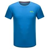 埃尔蒙特ALPINT MOUNTAIN 春夏情侣快干T恤 户外短袖吸湿排汗T恤 630-522 蓝色 L