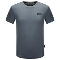 埃尔蒙特ALPINT MOUNTAIN 春夏情侣快干T恤 户外短袖吸湿排汗T恤 630-522 灰色 XXXL