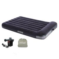 INTEX 内置枕头充气床 露营气垫床 折叠床双人137*191*30,赠品赠完为止