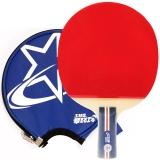 红双喜DHS乒乓球拍 直拍双面长反胶快攻结合弧圈单拍R1007(附拍套)