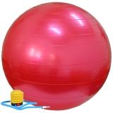 乐士Enpex 75cm瑜伽球 加厚防爆健身球 红色