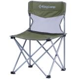 康尔(KingCamp) 折叠椅 连体椅 休闲椅 户外露营休闲 铁管 轻巧便携 舒适耐用 中号 KC3832 灰绿色