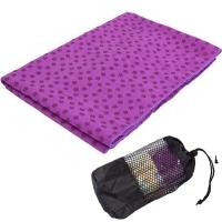 凯速 环保加厚防滑瑜伽铺巾 梅花点防滑吸汗瑜伽毯瑜伽毛巾 带网包 EA09 紫色