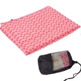 凯速 环保加厚防滑瑜伽铺巾 梅花点防滑吸汗瑜伽毯瑜伽毛巾 带网包 EA09 粉色