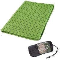 凯速 环保加厚防滑瑜伽铺巾 梅花点防滑吸汗瑜伽毯瑜伽毛巾 带网包 EA09 绿色