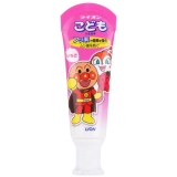 狮王(Lion)面包超人儿童草莓味牙膏40g(安全可吞食) 日本原装进口