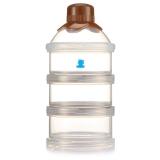 小白熊 便携奶粉储存盒 婴儿独立可拆奶粉格 09225