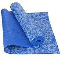 乐士Enpex 6mm印花瑜伽垫 男女加厚健身垫 俯卧撑垫 蓝色