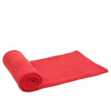 红色营地 户外野营睡袋 秋冬季信封式睡袋 成人抓绒睡袋内胆 如风红色