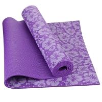 乐士Enpex 6mm印花瑜伽垫 男女加厚健身垫 俯卧撑垫 紫色