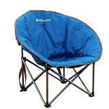 喜马拉雅 户外便携折叠椅子太阳椅室内午休椅QQ椅导演沙滩露营钓鱼椅 蔚蓝色HF9524