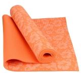 乐士Enpex 6mm印花瑜伽垫 男女加厚健身垫 俯卧撑垫 橙色