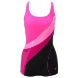 英发(YINGFA)女款时尚 动感休闲 连体平角游泳衣 Y1525 -2粉红色 L