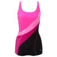 英發(YINGFA)女款時尚 動感休閑 連體平角游泳衣 Y1525 -2粉紅色 L