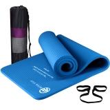 弥雅(MIYA UGO)瑜伽垫185*66cm 加长加宽加厚健身运动垫子 15mm深蓝色(含绑带网包)