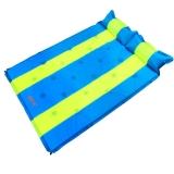 喜马拉雅帐篷防潮垫子 自动充气垫户外可拼接沙滩睡垫野餐垫 双人蓝黄条HA9609