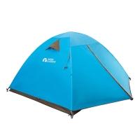 牧高笛户外装备 旅游野营露营防风防雨透气4人双层三季帐篷 QR4 蓝色