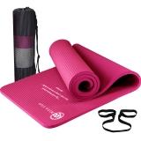 弥雅(MIYA UGO)瑜伽垫185*66cm 加长加宽加厚健身运动垫子 15mm玫红色(含绑带网包)