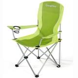 康尔(KingCamp) 折叠椅 扶手椅 休闲椅 户外露营休闲 铁管 轻巧便携 舒适耐用 KC3818 绿色