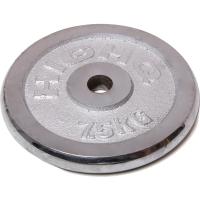 凯速 电镀配重 杠铃片7.5公斤(孔径28mm单片)