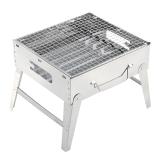红色营地 户外烧烤架 烧烤炉子家用 木炭烤肉机 便携式碳烤羊肉串机 不锈钢欢宴标准款