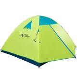 牧高笛户外装备 旅游野营露营防风防雨透气4人双层三季帐篷 QR4 荧光黄
