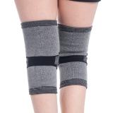 加加林JA-70竹炭户外运动护膝保暖超薄1对装 登山护膝L码