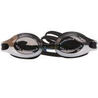 奇海镀膜泳镜男女通用平光游泳镜比赛训练 游泳装备 2500M黑色
