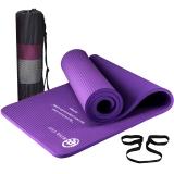弥雅(MIYA UGO)瑜伽垫185*66cm 加长加宽加厚健身运动垫子 15mm紫色(含绑带网包)
