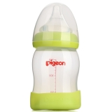 贝亲(Pigeon)宽口径PP奶瓶 160ml AA80(绿色)