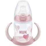 NUK宽口PP两用学饮杯150ml(装上奶嘴可作奶瓶)粉色