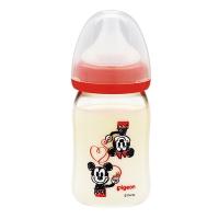 贝亲(Pigeon)宽口径PPSU仿母乳实感奶瓶160ml(米奇图案) 【日本原装进口】