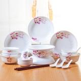 瓷魂 餐具套装28头景德镇陶瓷韩式碗碟套装盘子碗筷套装 红袖添香