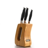 铂帝斯Bodeux 刀具四件套装 菜刀水果刀切片刀组合 碳化竹刀架 德国钼钒钢