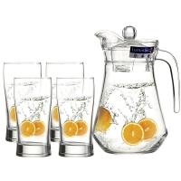 乐美雅(Luminarc)饮料用具 鸭嘴壶水壶饮料用具 5件套