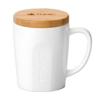特美刻(TOMIC)馬克杯 咖啡杯子情侶陶瓷杯懶人大容量牛飲水杯茶杯 1BPM1317 白色 520ML