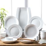 亿嘉IJARL 时尚陶瓷韩式碗碟套装28头餐具套装 白瓷