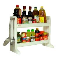 宝优妮厨房置物架落地2层调料架储物架子调料盒收纳架厨房用品DQ1306