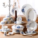 瓷魂 餐具套装56头景德镇陶瓷韩式碗碟套装盘子碗筷套装 花语春茶