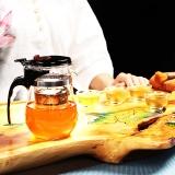 尚帝(shangdi)耐高温飘逸杯壶 可拆洗过滤玻璃泡茶器办公茶具 赠4个茶杯